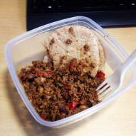 lamb mince lunch