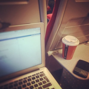 Weekend working on the train