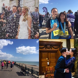 Wedding, Brighton Marathon, running
