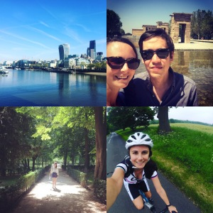 Madrid, London, running, cycling