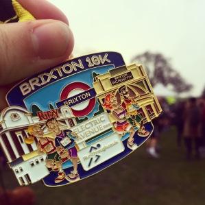 RunThrough Brixton 10km medal